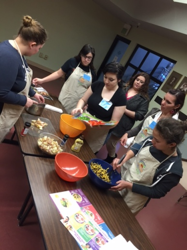 Learning to cook healthy recipes with Yolo County's Nutrition Education Program