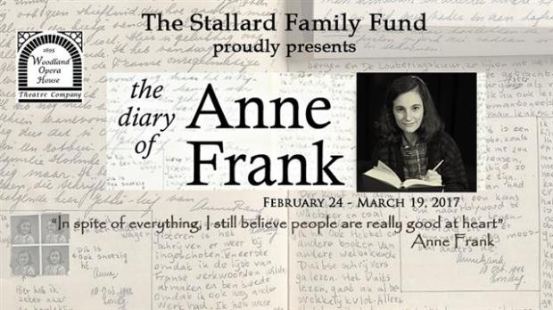 Anne Frank with diary