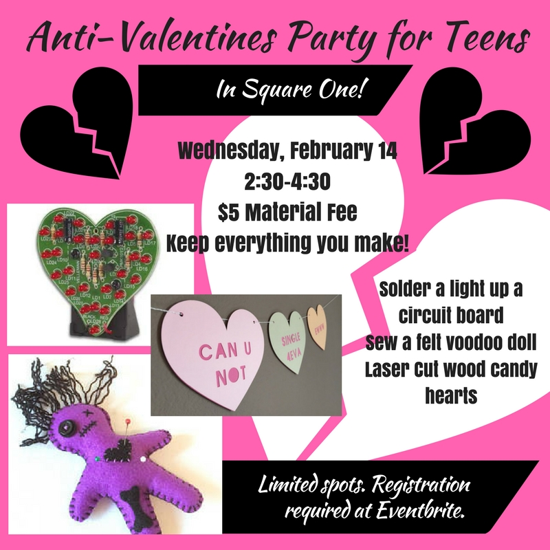 Social Media Anti Valentines Party 2018 Woodland Library Teens