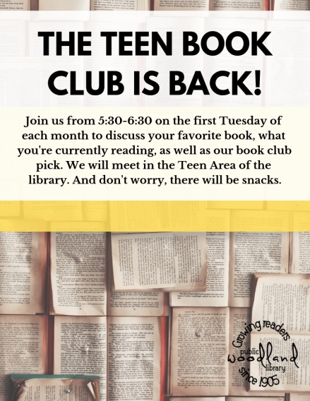 THE TEEN BOOK CLUB flyer