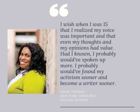 Angie Thomas New York Times Best Selling Author