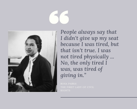 Rosa Parks The first lady of civil rights