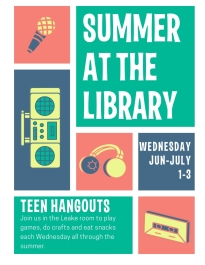teen hang outs flyer